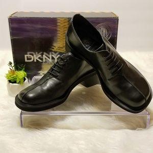 DKNY JEANS Oxford Loafers Black Sport Calf NIB